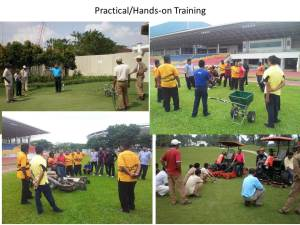 I train golf course and football field staff