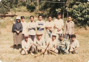 In UPM before planting my vege or something. I'm standing third from left
