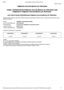 I had to brag (liar) but I'm probably one of the few in the industry in Malaysia that has an applicators licence.