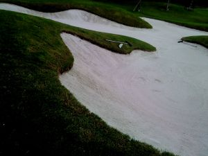 "Now almost all new bunkers in Malaysia 'must' look like this. I once asked ""Why?!"" and was told ""There's a new cloth/coat/technology to hold the sand"". ""Thats good"" I said ""but it will still increase your construction and maintenance cost and it looks out of character from your older bunkers!"" ""Ya... but everyone else has them"" was the reply."
