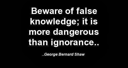 false knowledge danger