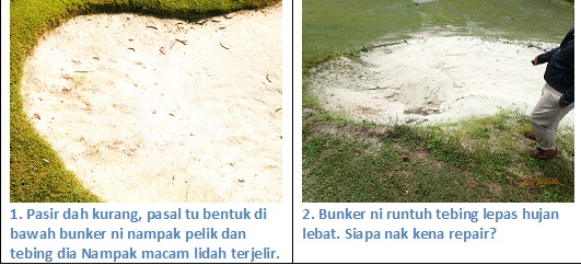 Problems of high faced bunkers
