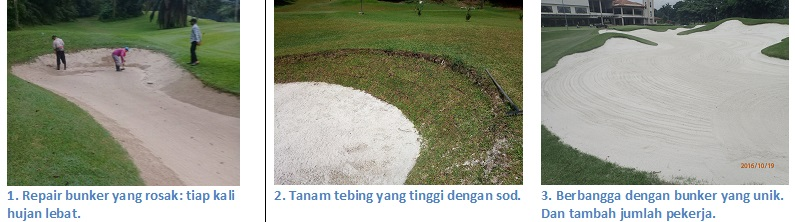 Solutions of high faced bunkers