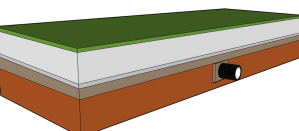 USGA green with intermediate layer
