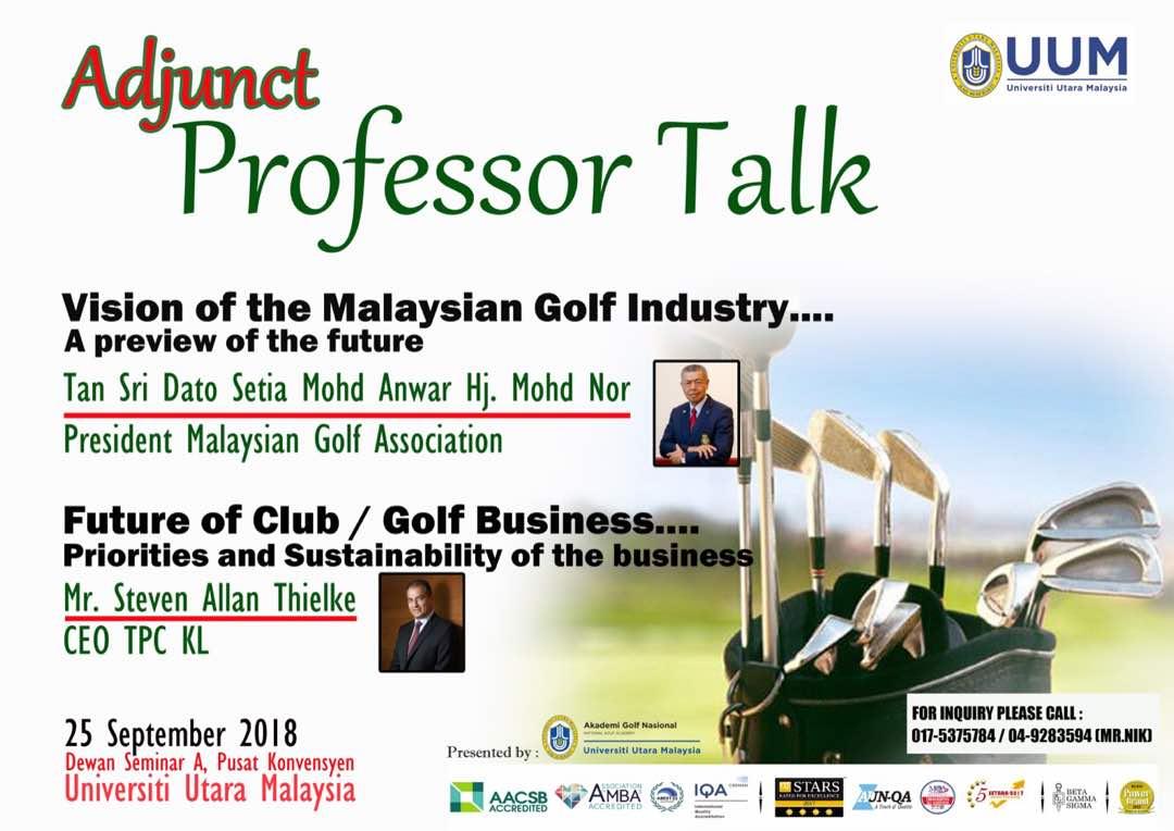 Adjunct Professor talk at UUM