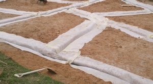 geotextile in drain not pipe